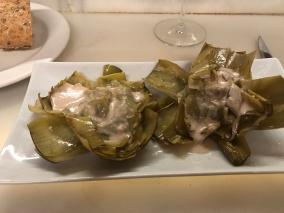 Artichoke with Foie Gras sauce. Amazing.